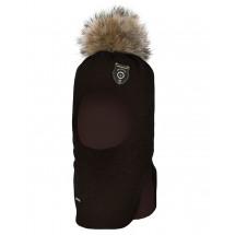 """Шапка-шлем темно-коричневого цвета для мальчиков """"Выстрел"""""""