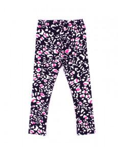 Лосины для девочек бело-розовый леопард