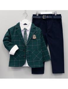 """Костюм для мальчиков с изумрудным пиджаком """"Рыцарь"""""""