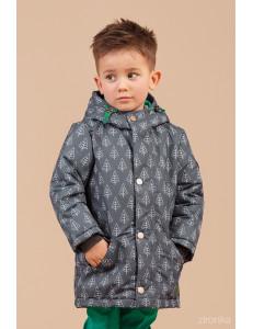 """Куртка-парка демисезонная для мальчиков серого цвета """"Лидер"""""""